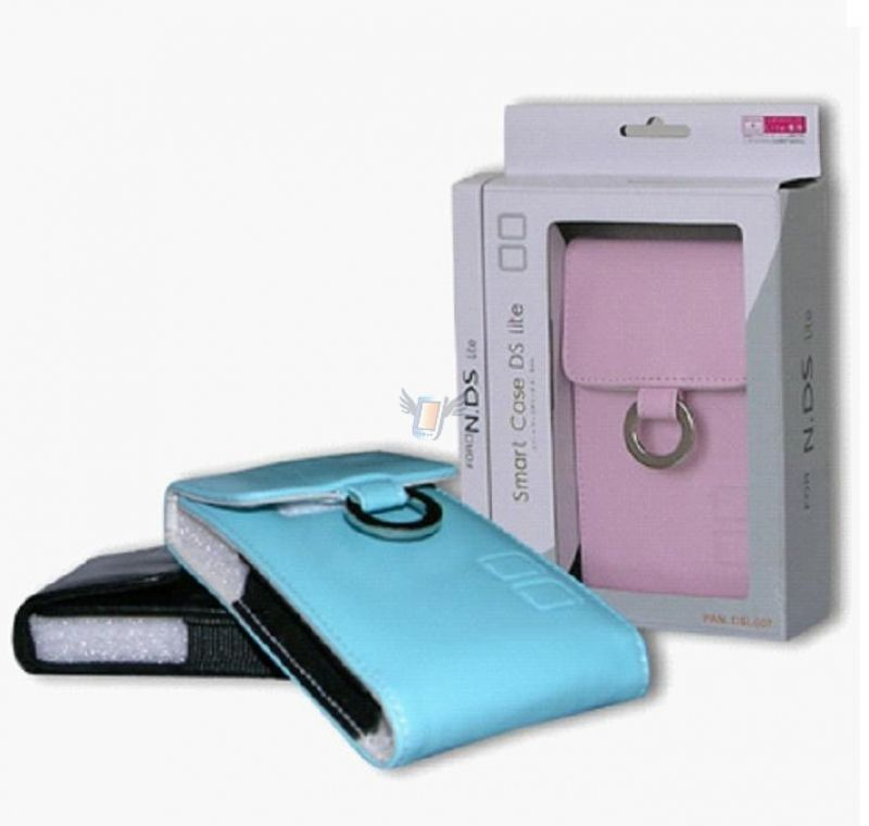 Kožené pouzdro Smart Case pro Nintendo DS Lite, modré