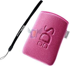 Měkké ochranné pouzdro Soft Cloth Pouch pro Nintendo DS Lite, růžové