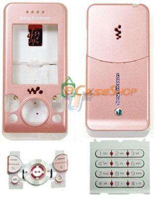 Kompletní housing pro Sony Ericsson S500, růžový