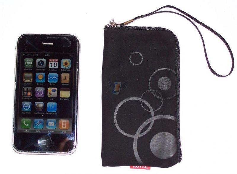 Dámské pouzdro Royal na zip pro iPhone 3G, černé