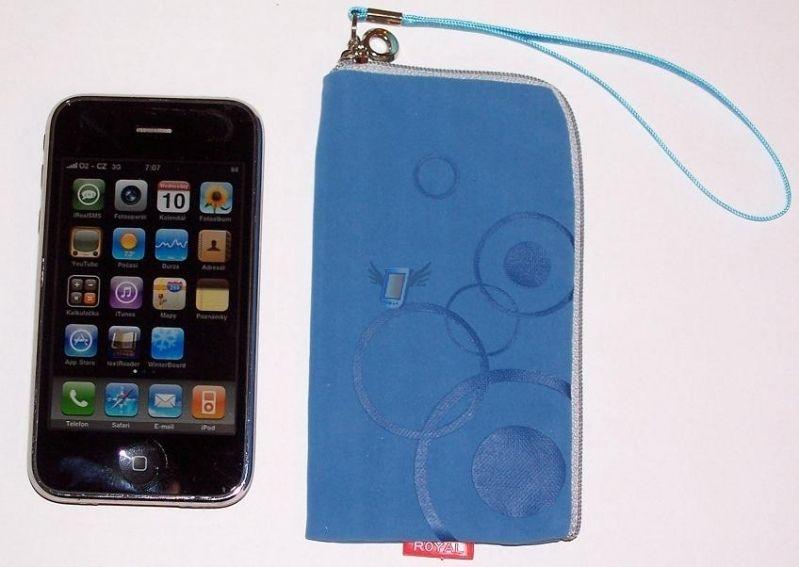 Dámské pouzdro Royal na zip pro iPhone 3G, světle modré
