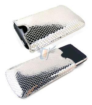 Kožené pouzdro iFone 91 pro iPhone 3G, stříbrné