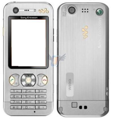 Kompletní housing pro Sony Ericsson W890, stříbrný