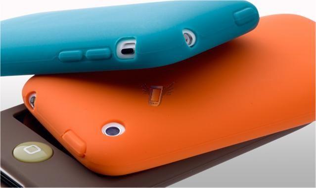 Silikonové pouzdro S01 pro Apple iPhone 3G, bílé
