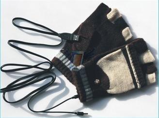USB vyhřívané rukavice, model 2