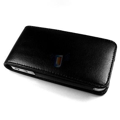 Kožené pouzdro ETUI pro iPhone 4, černé