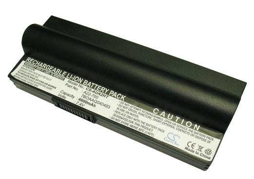 Baterie pro Asus Eee PC 701, 6600 mAh, černá