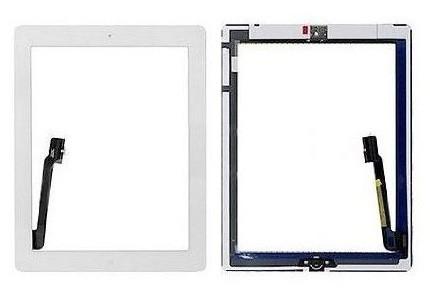 Sklo + Touchscreen pro Apple iPad 3, bílé