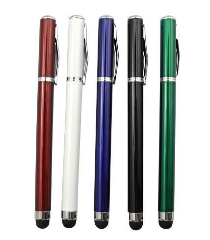 Dotykové pero 2v1 pro iPad a tablety, fialové