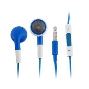 Sluchátka s mikrofonem a ovládáním hlasitosti pro iPhone 4, modrá
