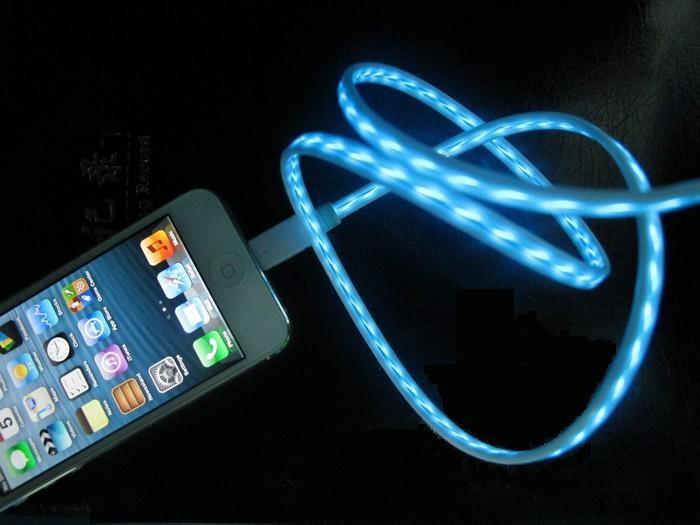 Svítící USB kabel pro Apple iPhone 4/4S