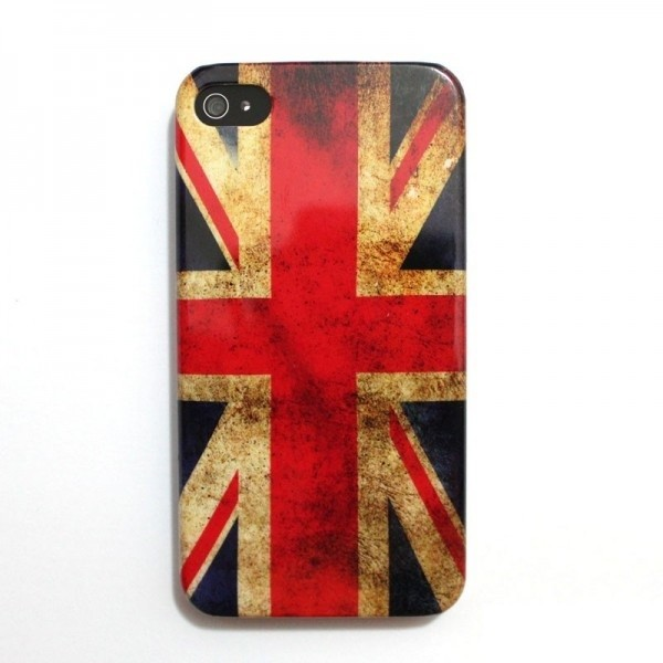 Hardcase pouzdro s britskou vlajkou pro iPhone 4