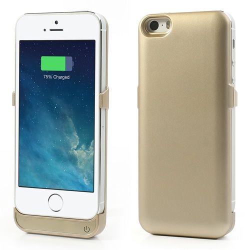 Externí baterie pro iPhone 5, zlatá, 2200 mAh