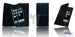 Kožené pouzdro pro iPhone model 91 - Modré