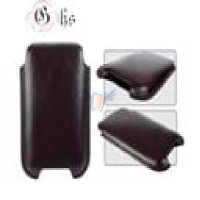 Kožené pouzdro pro iPhone model SlimLine, černé