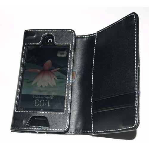 Kožené pouzdro pro iPhone - Černé