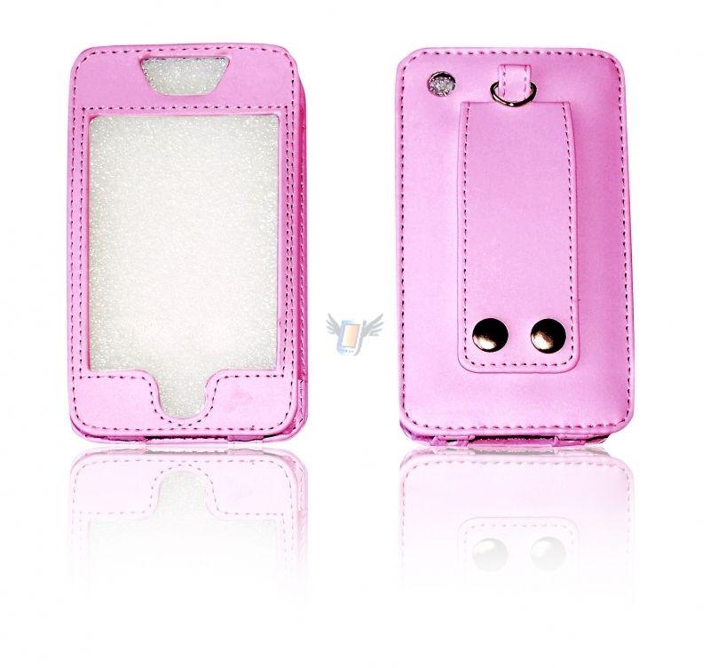 Kožené Sleeve pouzdro pro iPhone, růžové