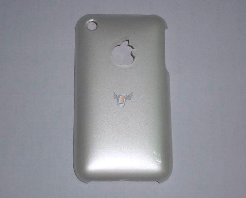 Zadní kryt Back Case s lesklým povrchem pro iPhone 3G, stříbrný