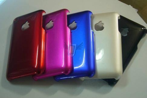 Zadní kryt Back Case s lesklým povrchem pro iPhone 3G, fialový