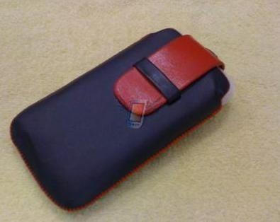 Kožené Ultra Slim deluxe pouzdro pro iPhone 3G, černé